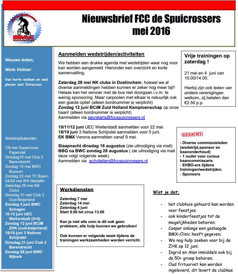 Nieuwsbrief 2016-5